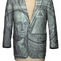 Dollar Business Suit illustration with photography for AMEX