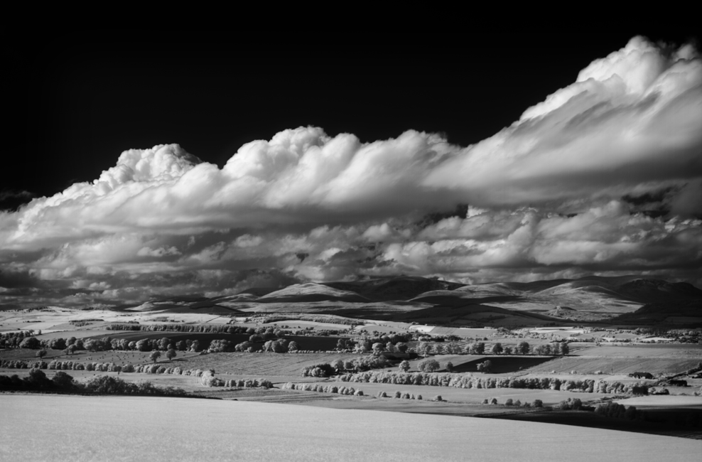 Infrared black and white landscape photography scotland black island